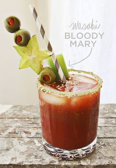 A Bloody Mary with a wasabi kick! #happyhour