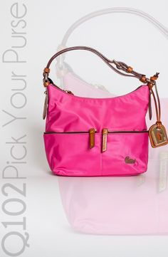 Dooney & Bourke - Small Zipper Pocket Sac in Fuchsia.  Go to wkrq.com to find out how to play Q102's Pick Your Purse!