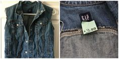 Gap denim vest from #Goodwill. $3.99 #denim #style #school