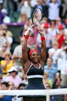 Winning!  Serena #Gold #LondonOlympics