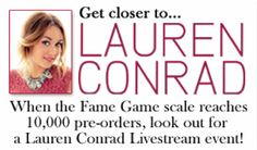 Live chat update for Lauren Conrad's #TheFameGame