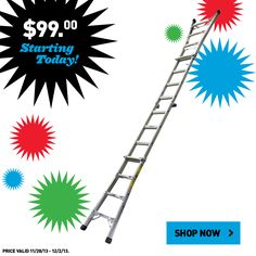 Shop this Multi-Position Werner Ladder for just $99.  #BlackFriday