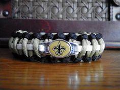 NFL football Paracord Bracelet New Orleans Saints by duckhunter68, $16.95