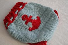 Anchors Aweigh Wool Diaper Cover Nappy Soaker by LagamorphLounge, $30.00