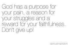 trust His plan!