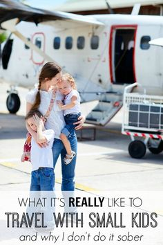 Before you plan your family winter getaway, you might want to read this funny post about what it's REALLY like to travel with small kids. Or not. Probably not... HA!