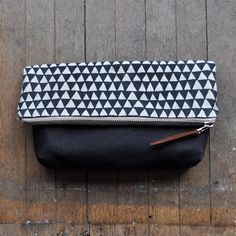 LARGE POUCH - triangle/waxed. $45.00, via Etsy.