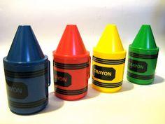 Crayon cups (not Crayola, but cute)