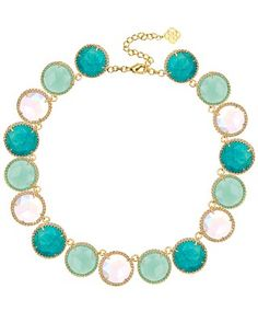 Adriana Collar Necklace in Blue Marine - Kendra Scott Jewelry.
