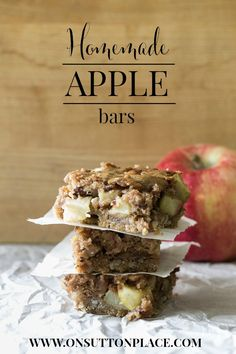 Homemade Apple Bars | A Recipe from On Sutton Place