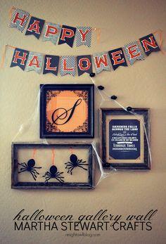 Halloween Gallery Wall with Martha Stewart Crafts at anightowlblog.com   #12monthsofmartha #marthastewartcrafts #halloween #gallerywall