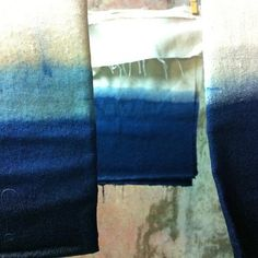 Dip #dyeing #blue #indigo #color  A #gray #tone will see how they turn out later