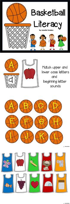 match upper and lowercase and first letter sound pictures!