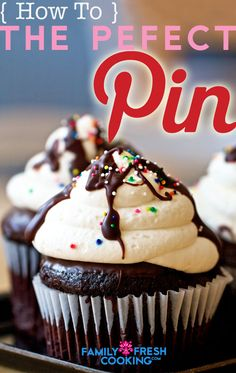 How to: The Perfect Pinterest Picture on FamilyFreshCooking.com #cupcake