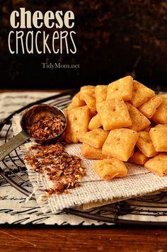 Homemade Cheese Crackers | recipe at TidyMom.net