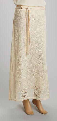Crème Lace Maxi Skirt