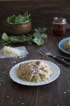 Sun Dried Tomato Spinach Pasta | thefirstyearblog.com