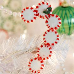 Your kids will love making ornaments with peppermint candies! Have them pick their own patterns: http://www.bhg.com/christmas/ornaments/easy-ornaments-kids-can-make/?socsrc=bhgpin120813candycaneornament&page=12
