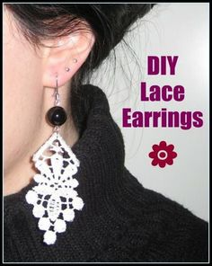 The Cupcake Diary: DIY Lace Earrings
