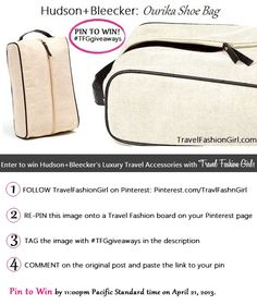 PIN TO WIN! Luxury Travel Accessories by Hudson+Bleecker!!! #TFGgiveaways