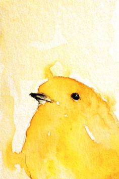 Yellow bird  A4 print after my original painting by Natureandart, $32.00