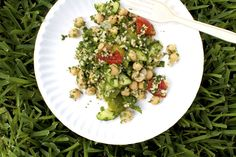 Chickpea, Tomato, and Mixed Herb Salad
