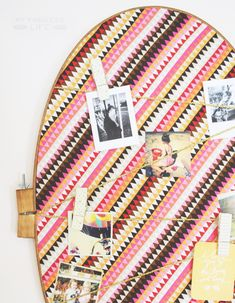 DIY: embroidery hoop bulletin board