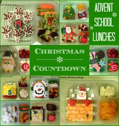 Lunch Made Easy: Advent School Lunches -  A Christmas Countdown (Click for tons of fun winter holiday food ideas!)