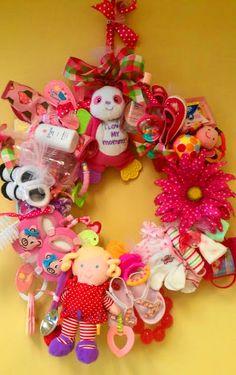 Baby Shower Wreath Present