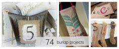 74 burlap projects