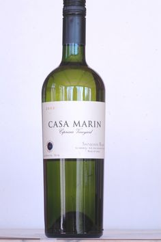 Casa Marin Cipreses Vineyard Sauvignon Blanc 2008  Lean and green, this sauvignon blanc is both salty and minerally. The vineyard is close to the cool Pacific and the flavor profile reflects maritime air and flavors. Love it or hate it, its personality is distinct. $20
