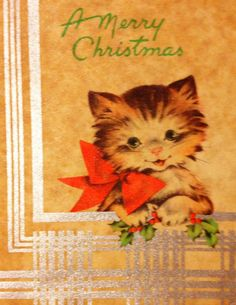 Vintage Whitman's Holiday Greeting Card w/ by MillCreekCollective, $12.00