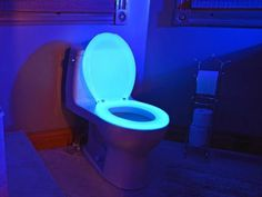 Don't miss the seat next time you have to get up to use the bathroom with the Glow in the Dark Neon Toilet Seat.