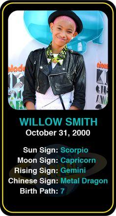 Celeb #Scorpio birthdays: Willow Smith's astrology info! Sign up here to see more: https://www.astroconnects.com/galleries/celeb-birthday-gallery/scorpio?start=30  #astrology #horoscope #zodiac #birthchart #natalchart #willowsmith