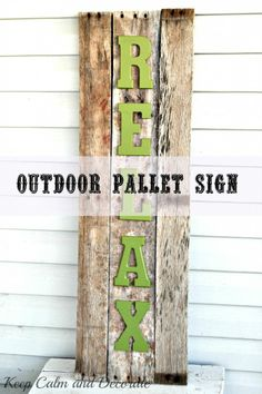 Outdoor Pallet Sign - Use for my last name!