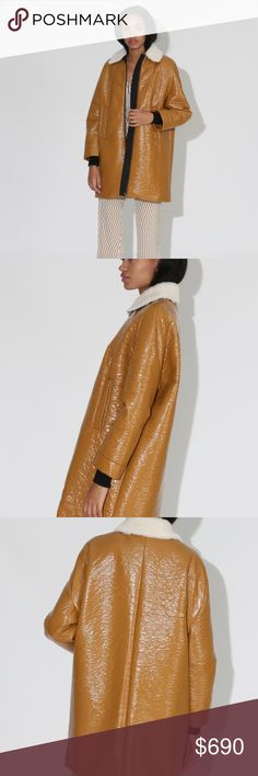 Rachel Comey Jaunt Coat - Tumeric, Size 0 (NWT) Rachel Comey's Jaunt Coat is the stand out coat of the season (Fall/Winter 2019)! A shiny water-resistant puff jacket that is incredibly lightweight and ultra modern. Features cozy Lamb Shearling collar, front zip closure, front welt pockets, and a boxy, softly padded silhouette. Sold out everywhere in this style, size (zero) and color.   *FIT NOTE: Runs oversized! Rachel Comey Jackets & Coats Puffers