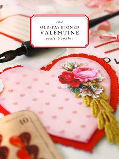 Old fashioned Valentine craft booklet