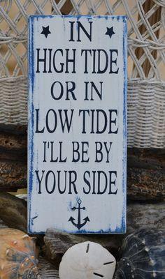 Hand Painted Wood Sign   Nautical Anchor Beach Decor by CarovaBeachCrafts  FB - Carova Beach Crafts