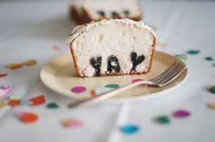 DIY Typography Cake via A Subtle Revelry