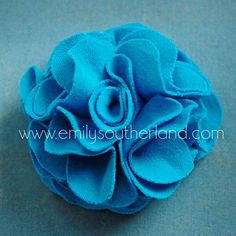 DIY t shirt flower-- great for hair clips