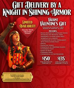 What's better than getting a Valentine from a real knight in shining armor?