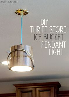 turn pendant, bucket turn, pendant lighting diy, pendant lights, ice bucket, pendant light diy