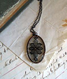 Black Lace Necklace