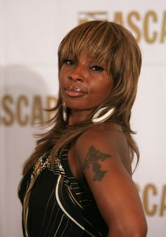 Mary J. Blige Medium Straight Cut with Bangs