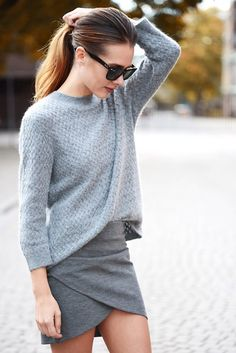 skirt, sweater, outfit