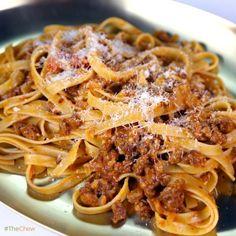 Fettuccine with Sausage Ragu by Mario Batali! #TheChew