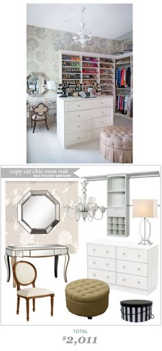 #CopyCatChicRoomRedo #ErinGorbach A Walk In Closet Sanctuary for $2011