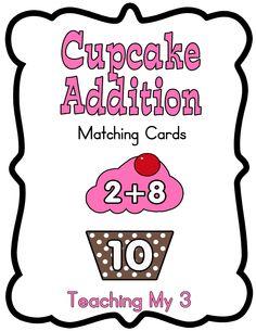 Cupcake Addition Cards