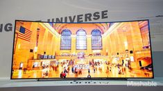 Samsung's 105-inch curved Ultra HD TV goes up for pre-order Tuesday with a whopping price tag: $119,999.99....Me talking now so who is going to buy this first?
