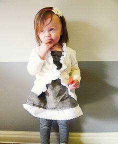 Shirt and Cardi Tutorial... Too cute!